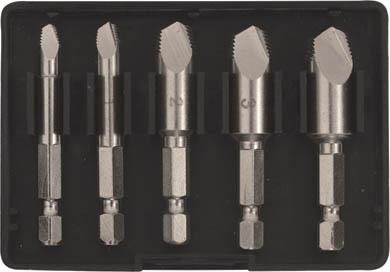 Набор экстракторов FIT, 5 шт. 3643736437Набор экстракторов FIT применяется для извлечения, вышедшего из строя и сломанного крепежа, например болта, шпильки. В комплект входит 5 инструментов разных размеров. Усиленный материал экстракторов повышает прочность. Простота хранения и транспортировки благодаря пластиковому боксу. Размеры экстракторов: 50 x 130, 50 x 120, 30 x 100, 50 x 60, 50 x 30 мм. Характеристики: Материал: сталь. Размеры футляра: 9,5 см x 6,5 см x 1,7 см. Размер упаковки: 16 см x 5,5 см x 2 см.