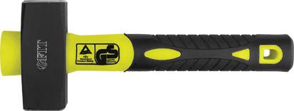 Кувалда FIT, фиброглассовая ручка, 1 кг45221Кувалда FIT с фиброглассовой ручкой для амортизации ударов и с эргономичной накладкой из композитной резины. Поверхность бойков закалена, хромирована для защиты от коррозии. Характеристики: Материал: сталь, резина. Длина: 25 см. Вес: 1 кг. Размер упаковки: 25 см х 9 см х 4 см.