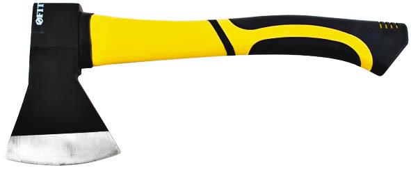 Топор Fit, с фиберглассовой ручкой, 600 г46212Топор Fit с фиберглассовой ручкой очень удобен в работе. Фиберглассовая ручка для амортизации ударов оформлена накладкой из композитной резины, что обеспечивает надежный хват и баланс при работе. Характеристики: Материал: сталь, дерево, резина. Длина ручки: 30 см. Размер рабочей поверхности: 16 см x 8 см. Размер упаковки: 35 см х 16 см х 3,5 см.