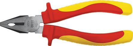 Пассатижи FIT ЭЛЕКТРО, 160 мм, до 1000 В50783Пассатижи Fit изготовлены из хром ванадиевой стали. Они предназначены для захвата, зажима и удержания мелких деталей.Имеют эргономичные ручки. Выдерживают напряжение до 1000 вольт. Характеристики: Материал:хром-ванадиевая сталь, пластик. Общая длина:16 см. Размер плоскогубцев: 16 см х 6 см х 3 см. Размер упаковки: 22 см х 6 см х 3 см.