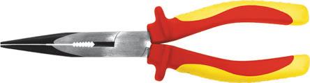 Тонконосы Fit, 160 мм, 1000 В50786Тонконосы Fit изготовлены из хром ванадиевой стали. Они предназначены для захвата, зажима и удержания мелких деталей.Имеют эргономичные ручки. Выдерживают напряжение до 1000 вольт. Характеристики: Материал:хром-ванадиевая сталь, пластик. Общая длина:16 см. Размер тонконосов: 16 см х 6 см х 2,5 см. Размер упаковки: 18 см х 6 см х 2,5 см.