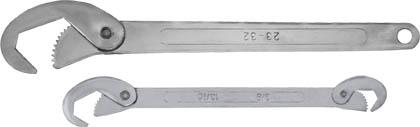 Ключи универсальные Fit, 2 шт. (9-22 мм, 23-32 мм)63782Набор универсальных ключей Fit используется для выполнения работ с резьбовыми соединениями различных размеров. Зубчатые рабочие поверхности обеспечивают прочный и уверенный обхват крепежных элементов. Набор включает в себя два предмета, удобных в использовании и обладающих высокой прочностью. Один из ключей является двусторонним, а на другом в хвостовой части ручки предусмотрено отверстие для подвеса. Размер обхвата малого ключа 9-22 мм, а большого 23-32 мм. Характеристики: Материал: сталь. Размер малого ключа: 4 см x 0,5 см x 20,8 см. Размер большого ключа: 4,5 см x 1 см x 26,7 см. Размер упаковки: 9,5 см x 1 см x 32 см.