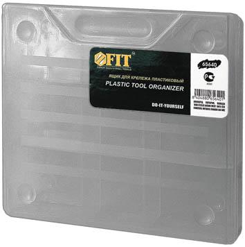 Ящик для крепежа FIT, 18,5 x 16 x 4 см65640Ящик для крепежа на стену FIT, предназначен для хранения мелкого инструмента. С помощью съемных перегородок ящик можно разделить на 4 средних секции, 3 малых или же одну небольшую. Характеристики:Материал:пластик. Общий размер:18,5 см x 16 см x 4 см. Размер средних секции (5 шт):6,5 см x 5 см. Размер средних секций (2 шт):5 см x 5 см. Размер общей секции: 11,5 см x 5 см. Размер упаковки:18,5 см x 16 см x 4 см.