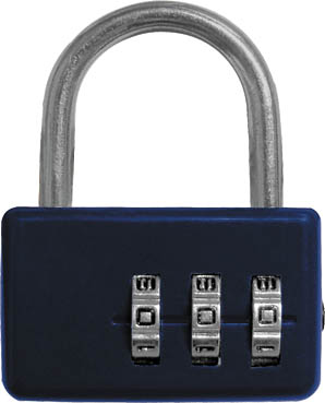 Замок навесной FIT кодовый, цвет:  синий, 3 диска FIT