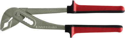 Клещи переставные FIT, 250 мм. 7064070640Переставные клещи FIT обладают высокопрочной конструкцией. Возможен выбор нужного размера захвата, достаточно нажать на кнопку и переставить нижнюю губку в нужное положение. Захватные губки выполнены из стали и защищены антикоррозийным покрытием. Рукоятки оснащены резиновыми накладками для комфортной работы. Характеристики: Материал: сталь, резина. Размеры клещей: 25 см х 8 см х 3 см. Размер упаковки: 29 см х 8,5 см х 3,5 см.