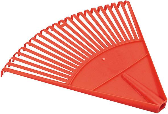Грабли веерные FIT, цвет: красный, 22 зуба77001Веерные пластиковые грабли FIT идеально подходят для работы на садовом участке, для сбора мусора, срезанных веток и сухой листвы. Зубья выполнены из прочного пластика и имеют веерную форму. Они не имеют черенка, что позволяет подобрать рукоятку необходимой длины. Характеристики: Материал: пластик. Диаметр отверстия под черенок: 23 мм. Размеры грабель: 42,5 см x 48 см x 4 см. Размер упаковки: 42,5 см x 48 см x 4 см.