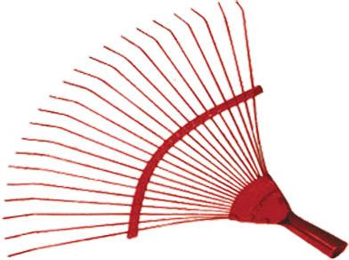 Веерные проволочные грабли FIT, цвет: красный, 22 зуба77004Веерные проволочные грабли FIT предназначены для сбора опавшей листвы и мусора с приусадебного участка.Инструмент с широкой рабочей поверхностью (45 см) прост и удобен в эксплуатации. Благодаря граблям садовая и придомовая территория всегда будут содержаться в чистоте. Характеристики:Материал:сталь. Размеры грабель:38,5 см х 45 см х 5 см. Размер упаковки:38,5 см х 45 см х 5 см.