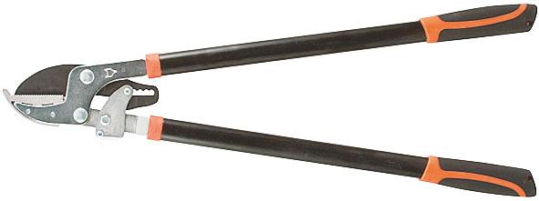 Сучкорез FIT, 730 мм, цвет: черный, красный. 7712177121Сучкорез FIT обладает высокопрочной стальной конструкцией. Для удобства работы предусмотрены длинные ручки с обрезиненными накладками. Лезвия сучкореза остро заточены, что обеспечивает ровный и точный срез сухих веток кустарников и деревьев. Благодаря храповому механизму можно развивать большее усилие при работе. Характеристики: Материал: сталь, резина. Размеры сучкореза: 73 см x 38 см x 2,5 см. Размер упаковки: 73 см x 38 см x 2,5 см.
