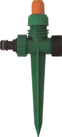 Распылитель пластиковый на пике FIT, цвет: зеленый, черный, оранжевый. 7734077340Пластиковый распылитель на пике FIT применяется для орошения почвы. Присоединяется к шлангу при помощи универсального соединителя. Совместим со всеми элементами аналогичной поливочной системы. Два соединительных гнезда обеспечивают его использование в цепи из нескольких распылителей. Характеристики: Материал: ABS пластик. Размер распылителя: 20,5 см x 9,5 см x 3 см. Размер упаковки: 23,5 см х 14 см х 3,5 см.