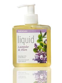 Sodasan Жидкое мыло Лаванда-олива, 300 мл7936Органическое травяное мыло Sodasan с лавандовым и оливковым маслами подходит для ежедневного ухода за кожей рук и тела. Идеально подходит для успокоения кожи, снимает раздражение, воспаление, покраснение, различные проявления аллергических реакций, рекомендуется в качестве освежающего и тонизирующего средства для уставшей кожи. Не содержит синтетические ароматизаторы, консерванты и красители. Абсолютно безопасное. Может использоваться для чувствительной кожи. Обладает приятным ароматом лаванды. Характеристики:Объем: 300 мл. Производитель: Германия. Артикул: 7936. Товар сертифицирован.