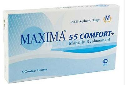 Maxima контактные линзы 55 Comfort Plus (6шт / 8.6 / -0.50)