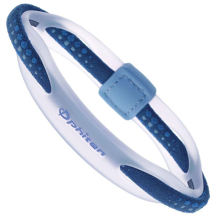 Браслет на руку Phiten  Rakuwa Bracelet X50 Hybrid , цвет: синий, 17 см - Энергетические браслеты и ожерелья