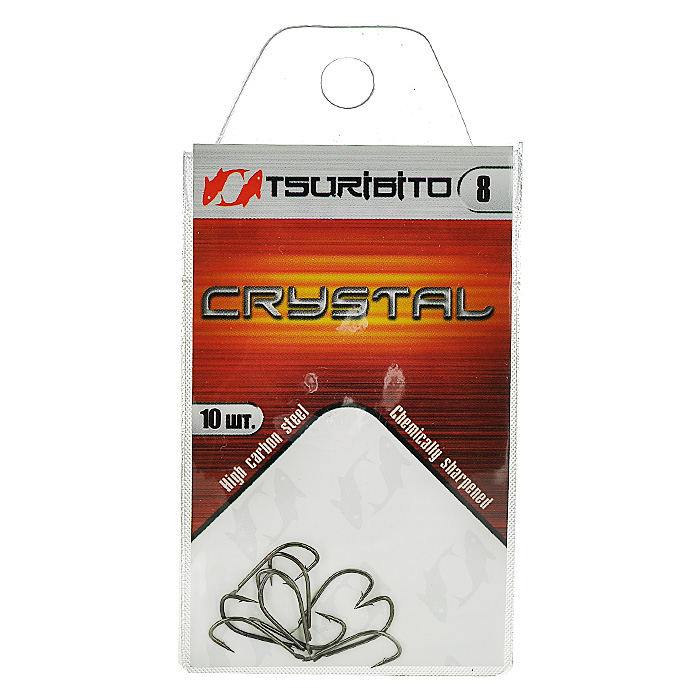 Крючок рыболовный Tsuribito Crystal, №8, 10 шт. 34640