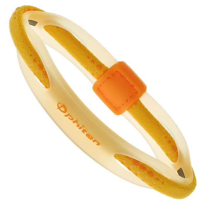 Браслет на руку Phiten Rakuwa Bracelet X50 Hybrid, цвет: желтый, 17 см