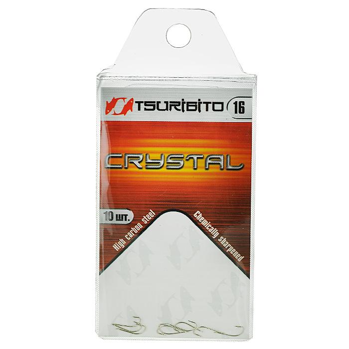 Крючок рыболовный Tsuribito Crystal, №16, 10 шт
