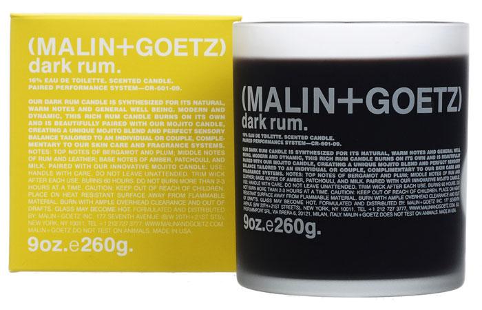 Malin+Goetz Свеча ароматизированная Темный ром, 260 гMG133Свечи Темный ром сочетает натуральные теплые ноты и создают ощущение общего комфорта и благополучия. Современный и динамичный, этот аромат используется как самостоятельно, так и в сочетании с другим парным ароматом для создания уникальной чувственной композиции. Используйте самостоятельно или в сочетании со свечой Мохито.Оптимальное время непрерывного горения свечи – не более 2 или 3 часов. Характеристики:Вес: 260 г. Производитель: США. Товар сертифицирован.