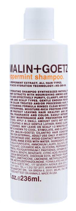 Malin+Goetz Шампунь Мята, для всех типов волос, 236 млMG049Нежный увлажняющий шампунь Мята подходит для ежедневного и частого использования. Натуральный экстракт мяты и очищающие ингредиенты на основе аминокислот эффективно очищают и поддерживают баланс всех типов волос и кожи головы. В отличие от традиционных грубых очищающих средств, шампунь Мята очищает, не вызывая сухости, повреждений или раздражения кожи, и не накапливается на волосах. Шампунь умеренно пенится, полностью смывается водой, делая волосы мягкими и ухаживая за кожей головы. Не содержит хлорид натрия и является прекрасным дополнением к ежедневному уходу за окрашенными волосами и волосами с химической завивкой или выпрямлением. Имеет натуральный аромат и цвет. Характеристики:Объем: 236 мл. Производитель: США. Товар сертифицирован.