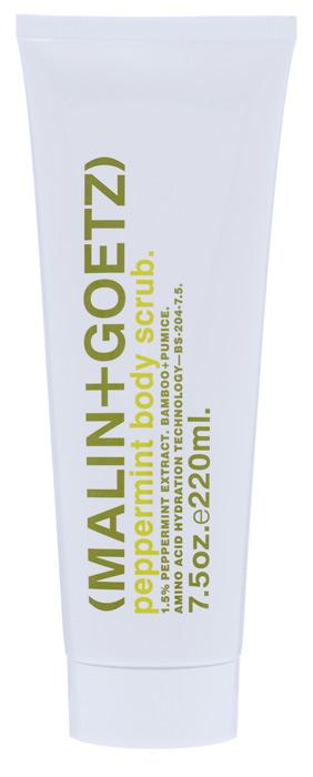 Malin+Goetz Скраб для тела Мята, 220 млMG076Пенящийся скраб для тела Malin+Goetz Мята мягко отшелушивает, очищает и укрепляет кожу. Натуральная мята и аминокислоты увлажняют и отшелушивают кожу. Скраб мягко и эффективно очищает, поддерживая рН-баланс всех типов кожи.Скраб для тела содержит бамбук и порошок пемзы для удаления омертвевшей кожи, стимулирования обновление клеток и смягчения кожи, не вызывая раздражения, сухости или повреждений. Использование скраба облегчает впитывание последующих косметических продуктов. Полностью смывается водой, делая кожу гладкой и увлажненной. Характеристики:Объем: 220 мл. Производитель: США. Товар сертифицирован.