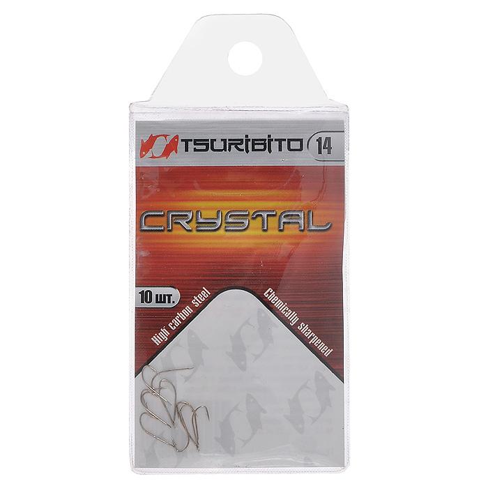 Крючок рыболовный Tsuribito Crystal, №14, 10 шт. 34627