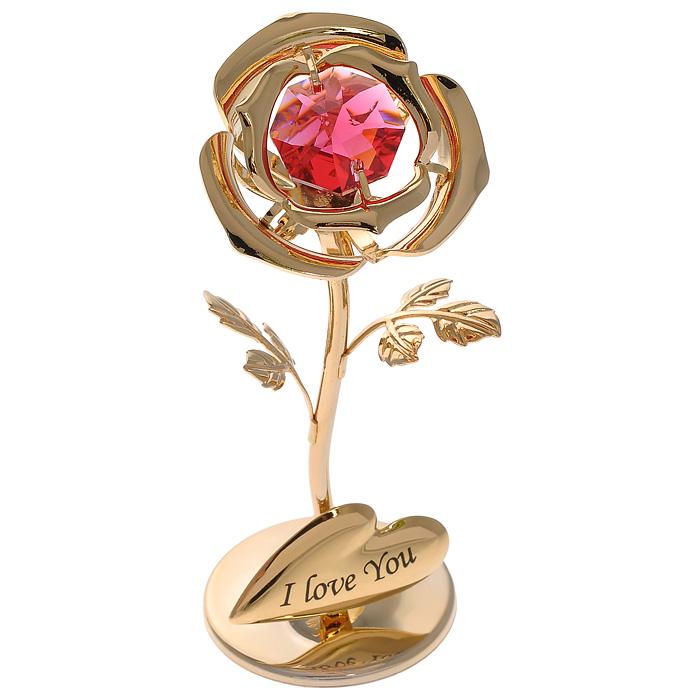 Фигурка декоративная Роза, цвет: золотистый. 6749367493Декоративная фигурка Роза, золотистого цвета, станет необычным аксессуаром для вашего интерьера и создаст незабываемую атмосферу. Фигурка выполнена в виде цветка розы на подставке и инкрустирована красным кристаллом. Кристаллы, украшающие фигурку, носят громкое имяSwarovski. Ограненные, как бриллианты, кристаллы блистают сотнями тысяч различных оттенков.Эта очаровательная фигурка послужит отличным функциональным подарком, а также подарит приятные мгновения и окунет вас в лучшие воспоминания.Фигурка упакована в подарочную коробку. Характеристики:Материал: металл (углеродистая сталь, покрытие золотом 0,05 микрон), австрийские кристаллы. Размер фигурки: 3,1 см х 7,6 см х 3 см.Цвет: золотистый. Размер упаковки: 8 см х 10 см х 8 см. Артикул: 67493. Более чем 30 лет назад компанияCrystocraftвыросла из ведущего производителя в перспективную торговую марку, которая задает тенденцию благодаря безупречному чувству красоты и стиля. Компания создает изящные, качественные, яркие сувениры, декорированные кристалламиSwarovskiразличных размеров и оттенков, сочетающие в себе превосходное мастерство обработки металлов и самое высокое качество кристаллов. Каждое изделие оформлено в индивидуальной подарочной упаковке, что придает ему завершенный и презентабельный вид.