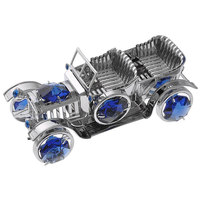 Фигурка декоративная Ретро-автомобиль, цвет: серебристый. 6738467384Декоративная фигурка Ретро-автомобиль, серебристого цвета, станет необычным аксессуаром для вашего интерьера и создаст незабываемую атмосферу. Фигурка выполнена в виде старинного кабриолета и инкрустирована синими кристаллами. Кристаллы, украшающие фигурку, носят громкое имяSwarovski. Ограненные, как бриллианты, кристаллы блистают сотнями тысяч различных оттенков. Эта очаровательная фигурка послужит отличным функциональным подарком, а также подарит приятные мгновения и окунет вас в лучшие воспоминания. Фигурка упакована в подарочную коробку. Характеристики:Материал: металл (углеродистая сталь, покрытие золотом 0,05 микрон), австрийские кристаллы. Размер фигурки: 8,5 см х 4,5 см х 3,5 см.Цвет: серебристый. Размер упаковки: 6,5 см х 9 см х 4,5 см. Артикул: 67384. Более чем 30 лет назад компанияCrystocraftвыросла из ведущего производителя в перспективную торговую марку, которая задает тенденцию благодаря безупречному чувству красоты и стиля.Компания создает изящные, качественные, яркие сувениры, декорированные кристалламиSwarovskiразличных размеров и оттенков, сочетающие в себе превосходное мастерство обработки металлов и самое высокое качество кристаллов.Каждое изделие оформлено в индивидуальной подарочной упаковке, что придает ему завершенный и презентабельный вид.