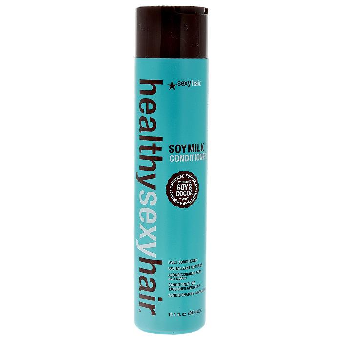 Sexy Hair Кондиционер Healthy на соевом молоке, для окрашенных волос, 300 млЗД13Кондиционер Sexy Hair Healthy восстанавливает утерянные аминокислоты, увлажняет, облегчает расчесывание. Делает волосы сильными, мягкими и послушными. Защищает от воздействия солнечных лучей, помогает сохранить цвет окрашенных волос. Успокаивает и питает. Подходит для всех типов волос, особенно рекомендован для сухих, поврежденных, окрашенных и химически обработанных волос. Характеристики:Объем: 300 мл. Производитель: США. Товар сертифицирован.