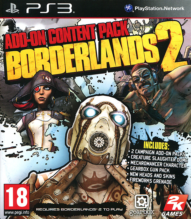 Borderlands 2. Add-On Content Pack (дополнение) (PS3)