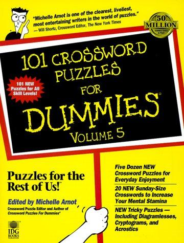 101 Crossword Puzzles For Dummies, Volume 5 eylure volume 101