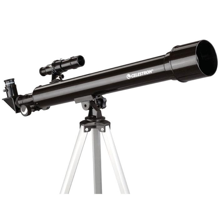 Celestron PowerSeeker 50 AZ телескоп-рефракторC21039Телескоп Celestron PowerSeeker 50 AZ обладает необходимым для начинающего наблюдателя набором базовых функций. Теперь, с помощью этого телескопа Вы сможете познакомить своего ребенка со звездным небом, не тратя на оборудование астрономические суммы.Во всех инструментах серии PowerSeeker используются только стеклянные объективы, имеющие большое преимущество перед пластиковыми линзами, используемыми в телескопах начального уровня некоторых других производителей. Для улучшения пропускания света на оптические элементы нанесено эффективное просветляющее покрытие.