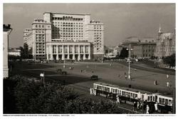 Эммануил Евзерихин. Манежная площадь. Гостиница Москва, 1938 (28*40) гостиница