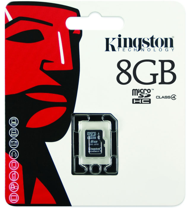 Kingston microSDHC Class 4 8GB карта памяти silicon power microsdhc class 10 8gb карта памяти с адаптером sd