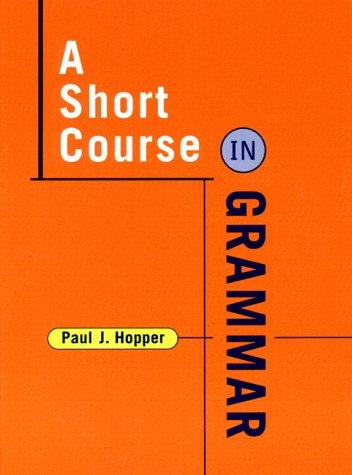 A Short Course in Grammar course enrollment decisions