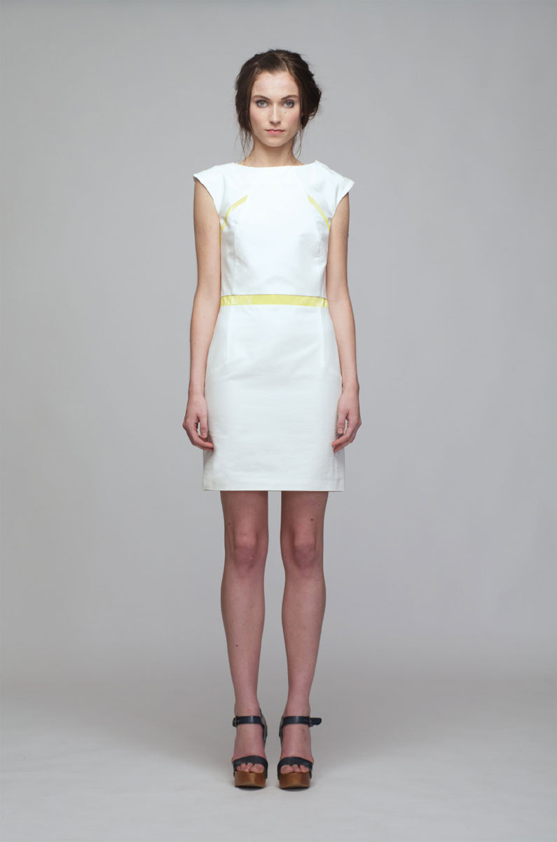 купить Платье Sara Coleman, цвет: белый, желтый. PV2013014V. Размер 40 (44) недорого
