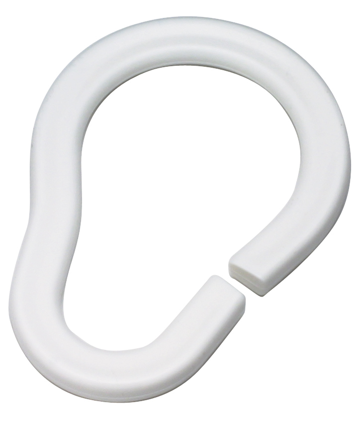 Набор колец Duschy для шторок ванной комнаты, 12 шт, цвет: белый. 681-10681-10Набор колец Duschy для шторок ванной комнаты выполнен из белого пластика. Кольца подходят ко всем шторкам для ванной, удобны в использовании, имеют практичную систему застежки. Легкие и надежные в эксплуатации. Прекрасно сочетаться с любым дизайном шторок. Характеристики: Материал: пластик. Диаметр кольца: 4 см. Комплектация: 12 шт. Размер упаковки: 15 см х 10 см х 5 см.