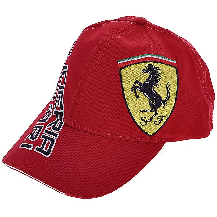 Бейсболка FerrariFan Diagonal (Фан Диагональ), цвет: красный. 3201379. Размер универсальный3201379Стильная шестипанельная бейсболка Ferrari Fan Diagonal (Фан Диагональ) выполнена в классическом стиле. Бейсболка на фронтальной части, с переходом на левую боковую сторону, оформлена крупным логотипом Ferrari, а с правой боковой стороны, с переходом на козырек - вышивкой в виде надписи Scuderia Ferrari. Козырек, оформленный окантовкой в цветах итальянского флага. На затылке бейсболка декорирована прорезиненной выштамповкой в виде итальянского флага.Сзади бейсболка регулируется при помощи липучки.Такая бейсболка послужит отличным аксессуаром во время отдыха или занятия споротом.