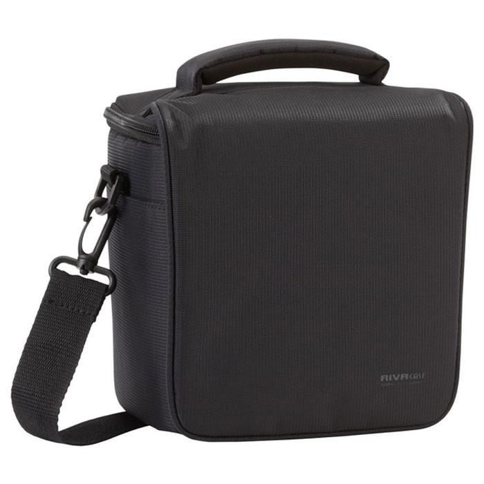 RIVACASE 7302 (PS) SLR Camera Bag, Black сумка для фотокамеры6479Высококачественная сумка Riva 7302 (PS) Digital Camera для зеркальной фотокамеры с установленным объективом. Дополнительно возможно разместить 1 объектив и вспышку с помощью внутренних передвижных перегородок. Верхний откидной клапан закрывает основное отделение на «молнии». Для переноски предусмотрены регулируемый наплечный ремень с мягкой накладкой и удобная ручка.