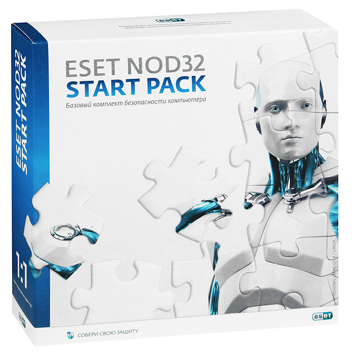 Eset NOD32 Start Pack (на 1 ПК). Лицензия на 1 год по eset nod32 nod32 mobile security 3 устройства 1 год base box nod32 enm2 ns box 1 1