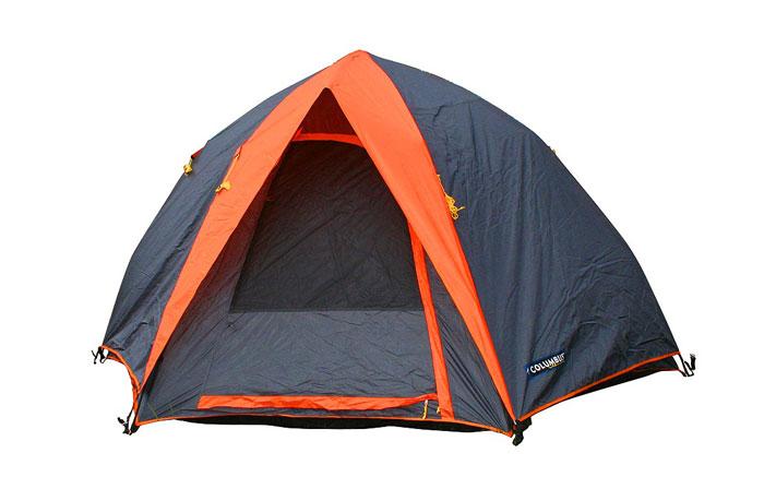 Палатка пятиместная Columbus Galaxy полуавтоматическая, двухслойная, цвет: серый, оранжевый палатка columbus cambridge pro