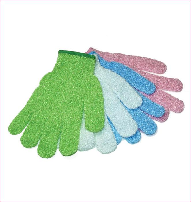 """Мочалка-перчатка """"Банные штучки"""", цвет: сиреневый"""