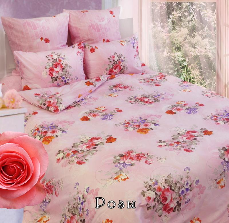 Комплект белья Sova & Javoronok Розы (1,5 спальный КПБ, бязь, наволочки 50х70) комплект белья 1 5 сп sova