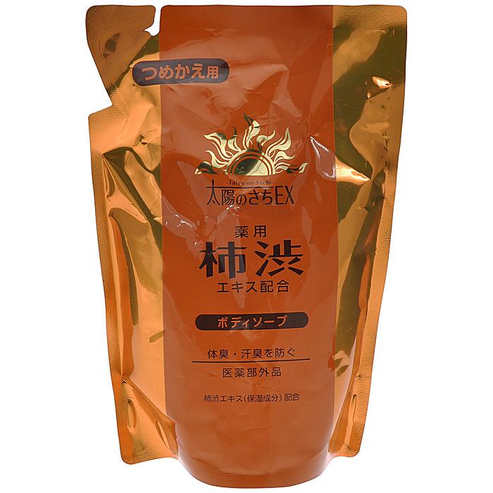 Max Жидкое мыло для тела, с экстрактом хурмы, запасной блок, 400 мл34060В состав мыла Max входит экстракт хурмы, содержащий антиоксиданты и витамины А, С, Р , Е, а также танин, обладающий ранозаживляющим и антибактериальным действием.Активные компоненты средства - розмарин, шалфей, базилик японский оказывают противовоспалительное, тонизирующее, сильное антиоксидантное действие, нормализуют деятельность сальных желез, замедляют и уменьшают процесс выработки кожного сала, сужают кожные поры.Действующий компонент мыла изопропилметилфенол препятствует размножению микроорганизмов, вызывающих появление неприятного запаха. Парфюмерная композиция на основе ментола создает ощущение свежести во время принятия душа. Характеристики:Объем: 400 мл. Артикул: 34060. Производитель: Япония. Товар сертифицирован.