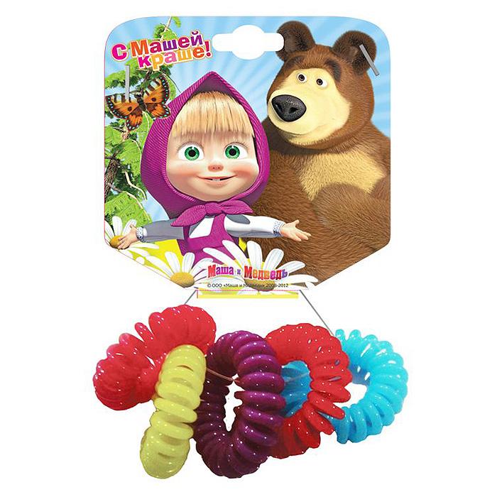 Маша и Медведь Резинка для волос Пружинки в цветовом дизайне 5 шт328484Необычная резинка для волос Маша и медведь Пружинки позволит украсить прическу вашей малышки и доставит ей много удовольствия. Резиночки выполнены из мягкого и гибкого пластика.Комплект включает пять резиночек разных цветов.Порадуйте свою юную модницу таким великолепным подарком!