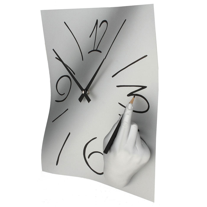 Часы настенные Ручная работа, цвет: хром. 560560Оригинальные настенные часы Ручная работа в стиле сюрреализм - интерьерный арт-объект, выполненный вручную итальянскими мастерами из полистоуна. Часы с объемной рукой, рисующей цифры на циферблате, - необычное дизайнерское решение и стильное украшение интерьера. Этот аксессуар не только оформит интерьер, но и послужит функционально.Оформите свой дом таким интерьерным шедевром или преподнесите его в качестве презента друзьям, и они оценят ваш оригинальный вкус и неординарность подарка. Характеристики:Материал: полистоун.Размер: 28 см x 38 см x 8 см.Артикул: 560.