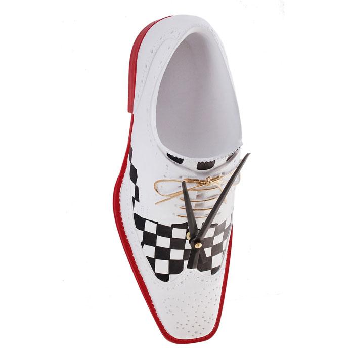 Часы настенные Ботинок Дэнди, кварцевые, цвет: красный, белый, черный. 652506 белый ботинок черный шнурок