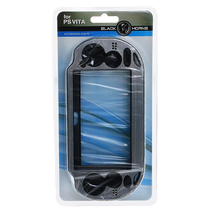Защитный металлический чехол Black Horns для PS Vita (серебро)