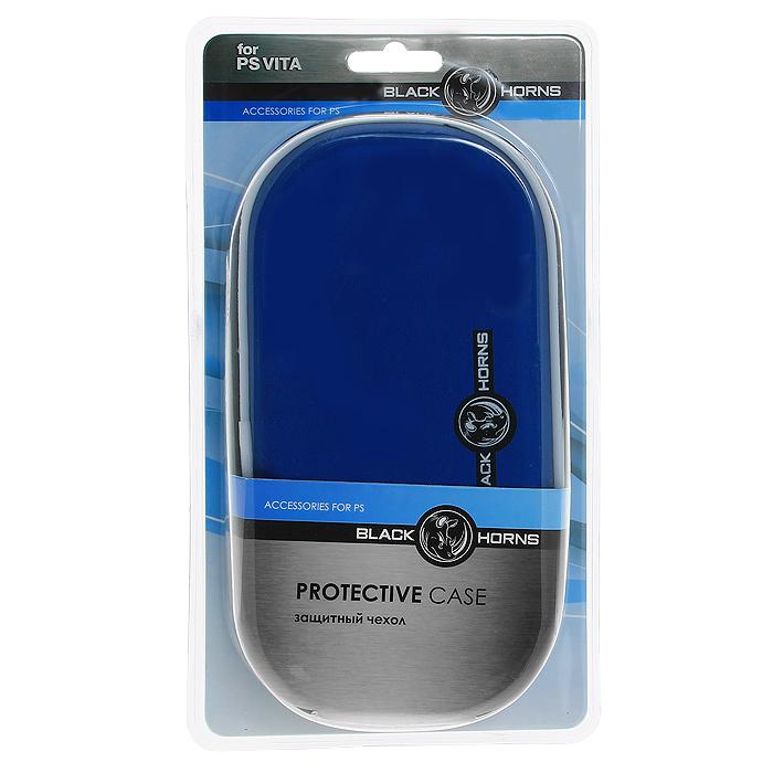 Защитный чехол Black Horns для PS Vita (синий)BH-PSV0203(R)Защитный чехол Black Horns - это наиболее надежная и удобная защита для вашей PS Vita при транспортировке.Легко одевается и снимаетсяОбеспечивает максимальную защиту вашей консоли от грязи, царапин и потертостейЧехол содержит специальные отделения для хранения карт памяти с играмиРазмеры чехла позволяют хранить PS Vita с одетым на нее силиконовым / пластиковым / металлическим чехломСовместимо со всеми версиями консоли PS Vita и картами памяти
