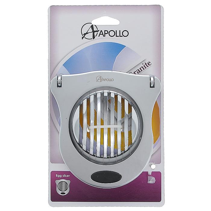 Яйцерезка Apollo Granite, цвет: серебристый13865Яйцерезка Apollo Argento выполнена из нержавеющей стали с матовой полировкой. С помощью этой яйцерезки вы без труда сможете измельчить яйцо. Хорошо натянутые струны легко нарезают яйцо на кусочки равной толщины. Пометите очищенное яйцо на рабочую часть, слегка нажмите на режущую часть и аккуратно разрезанные ломтики готовы для украшения изысканных блюд. Характеристики:Материал: нержавеющая сталь. Размер яйцерезки (в закрытом виде):10 см х 9,5 см х 3 см. Артикул: 13865.