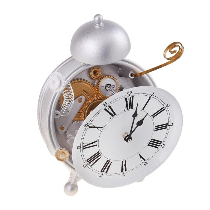 Часы настольные Сломанный будильник. 652543652543Оригинальные настольные часы Сломанный будильник - интерьерный арт-объект, выполненный вручную итальянскими мастерами из экологически чистого материала - мраморной крошки. Часы оснащены немецким кварцевым механизмом. Будильник со сломанным корпусом и торчащими в стороны пружинами - необычное дизайнерское решение и стильное украшение интерьера. Этот аксессуар не только оформит интерьер, но и послужит функционально.Оформите совой дом таким интерьерным шедевром или преподнесите его в качестве презента друзьям, и они оценят ваш оригинальный вкус и неординарность подарка. Характеристики:Материал: мраморная крошка.Размер: 12,5 см x 22 см x 30 см.Артикул: 652543.