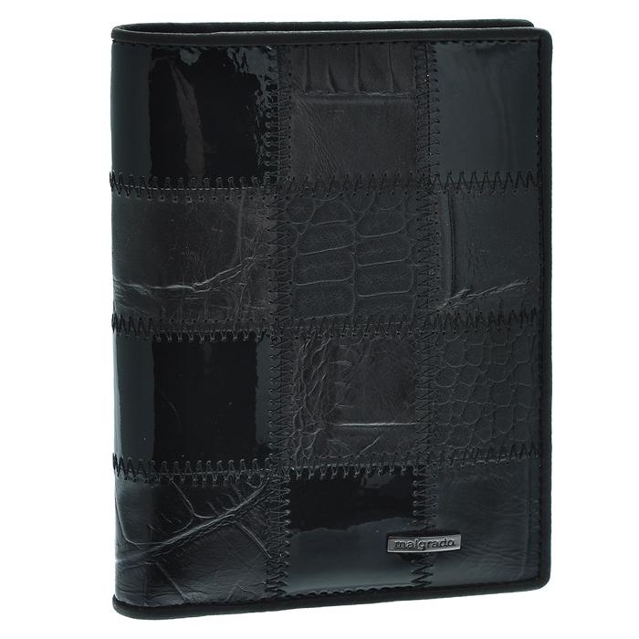 Обложка для паспорта Malgrado, цвет: черный. 54019-1A-239A54019-1A-239AСтильная обложка для паспорта Malgrado изготовлена из натуральной кожи черного цвета с декоративным тиснением под разные структуры и оформлена декоративными стежками. Внутри содержит прозрачное пластиковое окно, съемный прозрачный вкладыш для полного комплекта автодокументов, пять отделений для кредитных и дисконтных карт. Обложка упакована в подарочную картонную коробку с логотипом фирмы. Такая обложка станет замечательным подарком человеку, ценящему качественные и практичные вещи. Характеристики:Материал: натуральная кожа, пластик. Размер обложки: 13,5 см х 9,5 см х 1,5 см. Цвет: черный.Размер упаковки:15,5 см х 11,5 см х 3,5 см. Артикул: 54019-1A-239A.