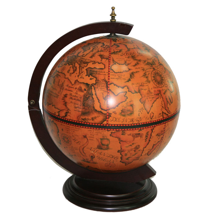 Глобус-бар настольный, диаметр 41 см47020Глобус-бар - это оригинальный предмет интерьера, предназначенный для храненияалкогольных напитков. Глобус-бар выполнен из дерева и стилизован под старину, чтопридает изделию антикварный вид и изысканность. Глобус-бар может стать великолепным подарком для ценителя или коллекционера элитныхнапитков, благодаря своему неповторимому дизайну и функциональности. Диаметр глобуса: 41 см. Высота глобуса-бара: 56 см.